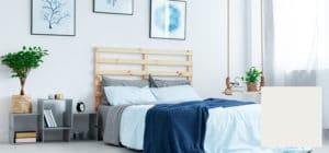 crisp white bed
