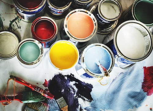 acrylic paint and oil paint which is suitable for interior painting