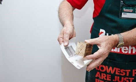 Sandpaper and Sanding block from Bunnings Employee