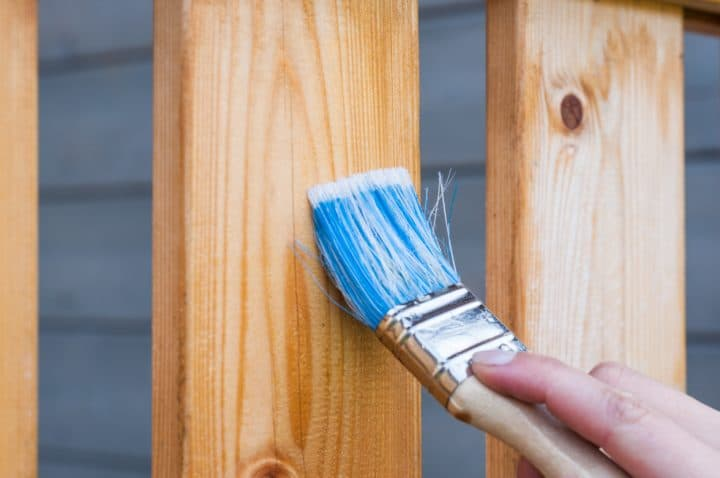 Prepare bare wood before you paint it